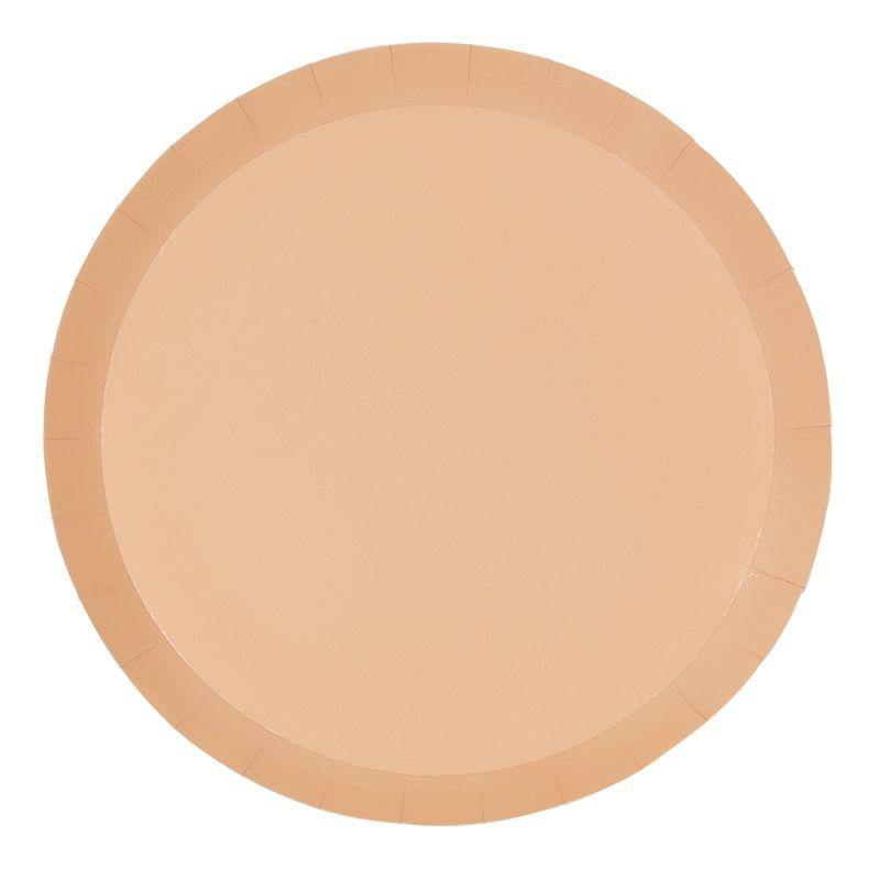 Pastel Peach Large Plates (10 Pack) - The Party Room
