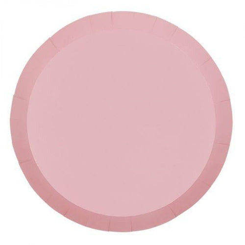 Pastel Pink Large Plates (10 Pack) - The Party Room