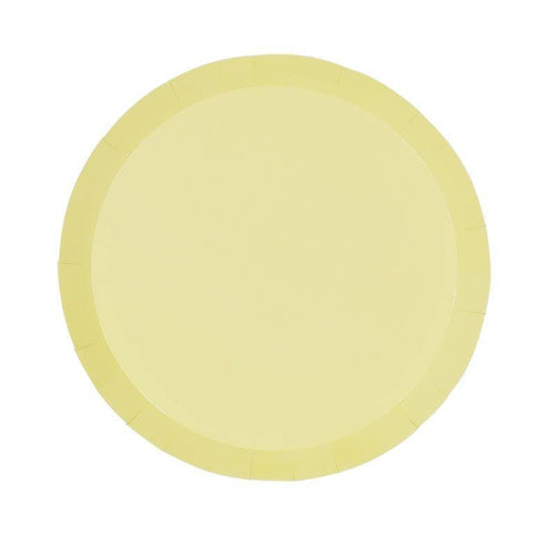 Pastel Yellow Plates - The Party Room
