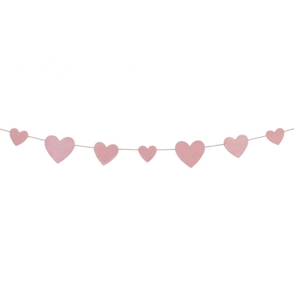 Pink Hearts Garland - The Party Room