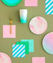 Load image into Gallery viewer, Pink Marble Plates - The Party Room