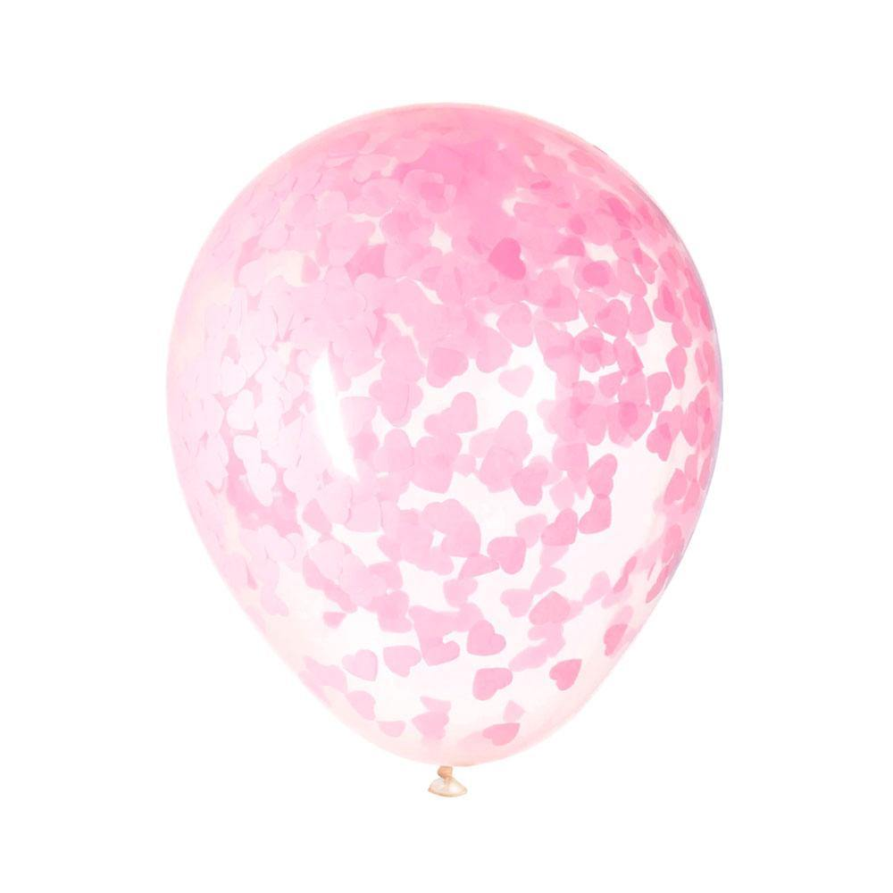 Pink Hearts Confetti Balloons - The Party Room