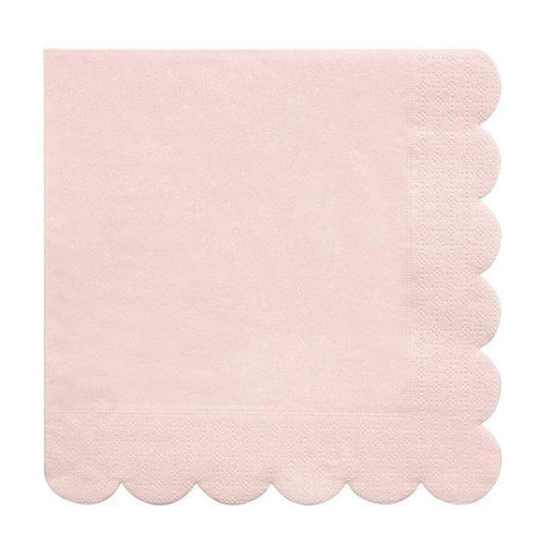 Pale Pink Scalloped Napkins - The Party Room