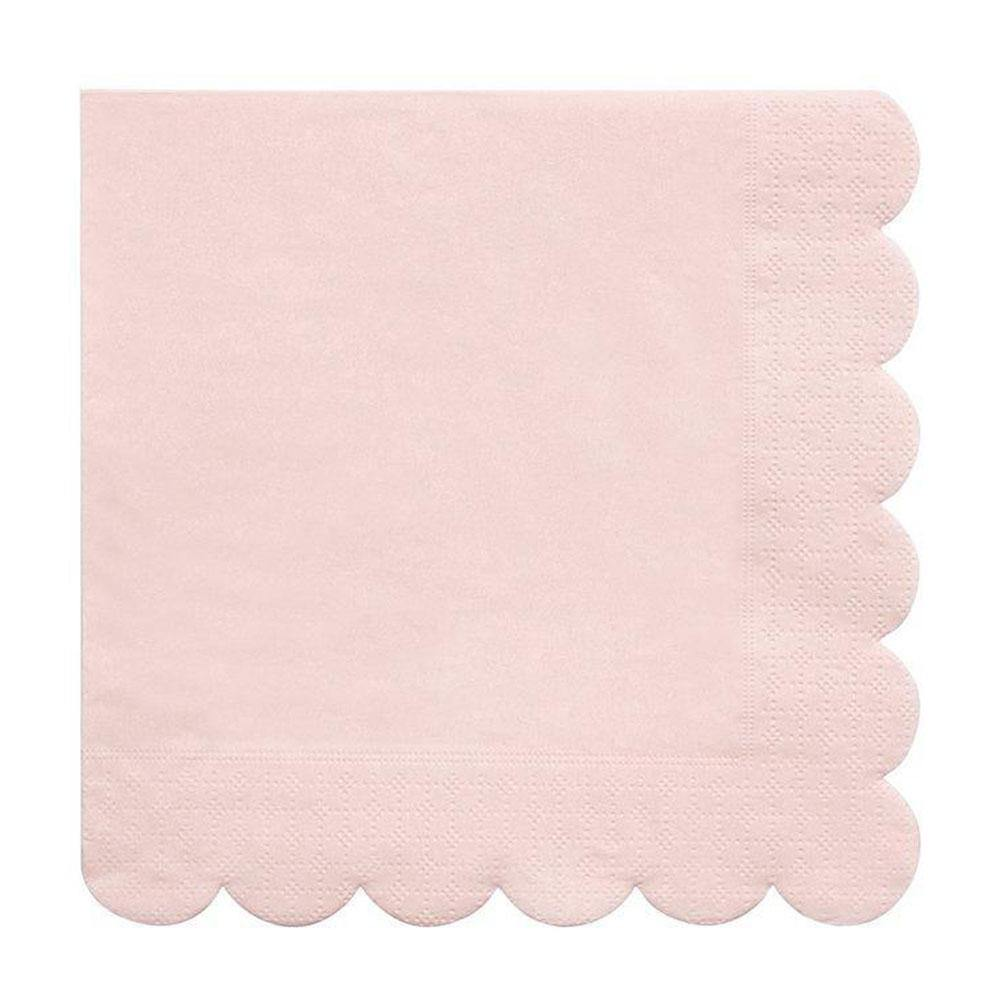 Pale Pink Scalloped Napkins