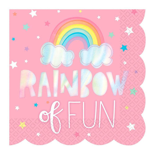 Holographic Rainbow Napkins - The Party Room