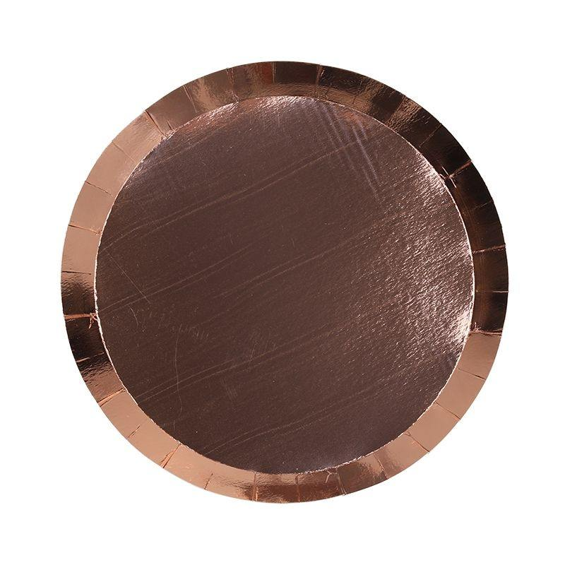 Metallic Rose Gold Plates - The Party Room