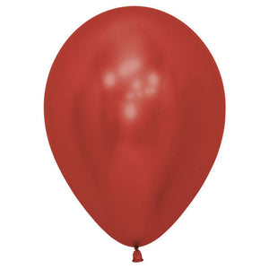Crystal Metallic Red Balloons - The Party Room