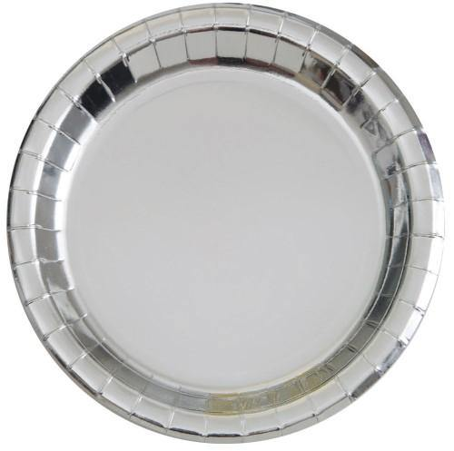 Silver Foil Plates - The Party Room