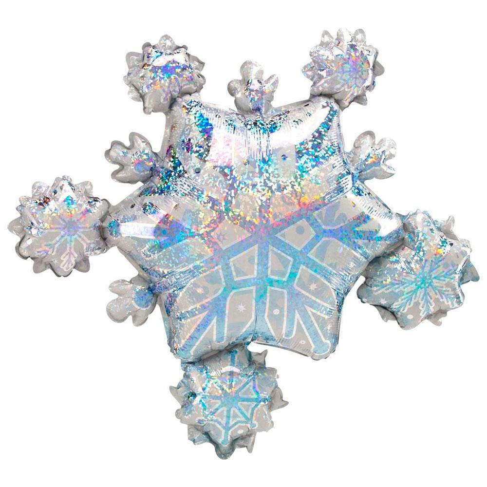 Large Snowflake Cluster Foil Balloon - The Party Room