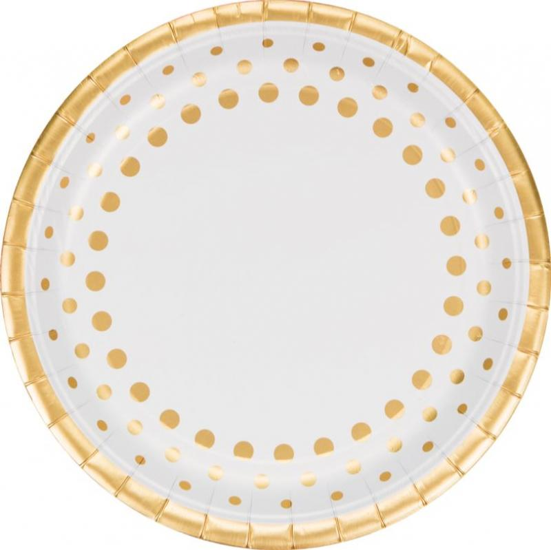 Sparkle & Shine Gold Dinner Plates - The Party Room
