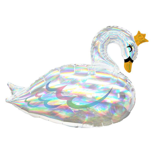 Large Iridescent Swan Foil Balloon - The Party Room