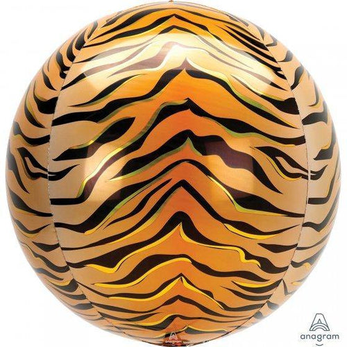 Tiger Print Orbz Balloon - The Party Room