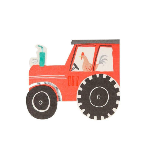 On The Farm Tractor Napkins - The Party Room