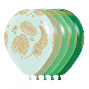 Tropical Leaves Pastel Balloons (10 Pack) - The Party Room