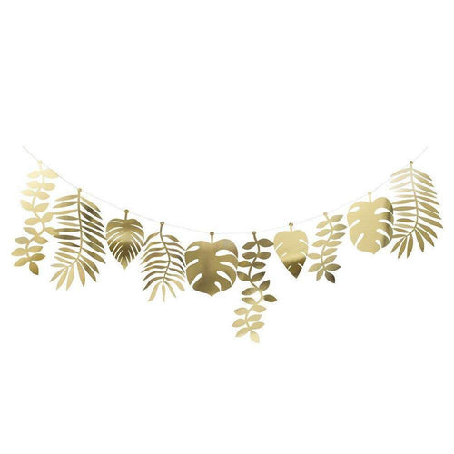 Gold Tropical Garland - The Party Room