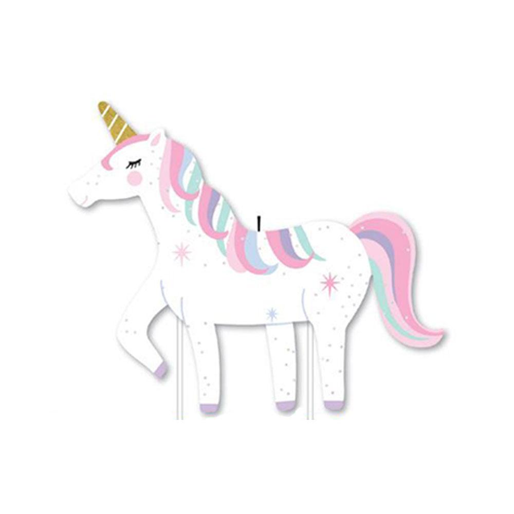 Unicorn Party Candle - Large - The Party Room
