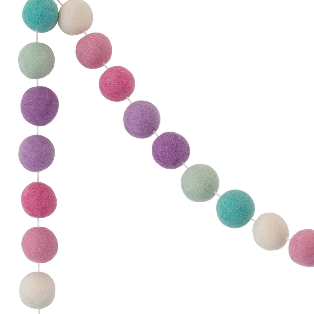 Felt Ball Garland | Unicorn - The Party Room