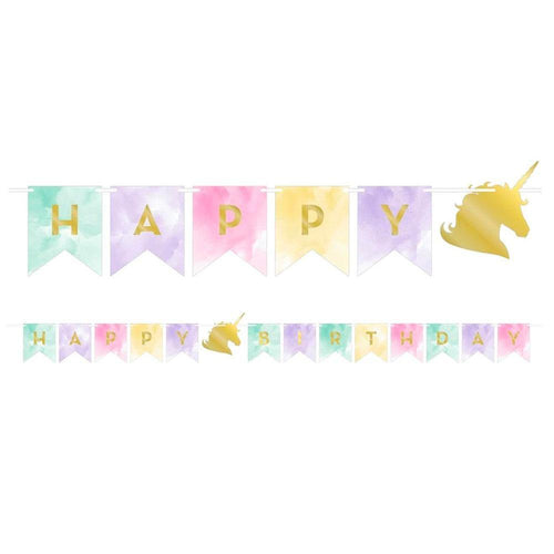 Unicorn Sparkle Birthday Garland - The Party Room