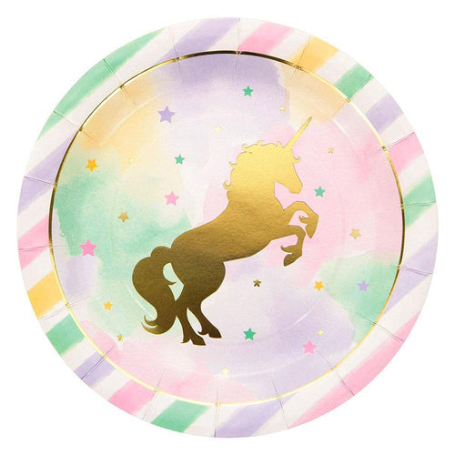 Unicorn Sparkle Large Plates - The Party Room