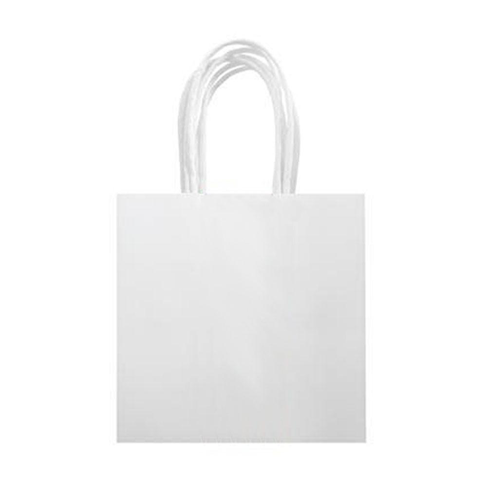 White Treat Bags With Handle - The Party Room