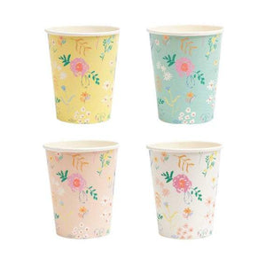 Wildflower Pastel Cups - The Party Room