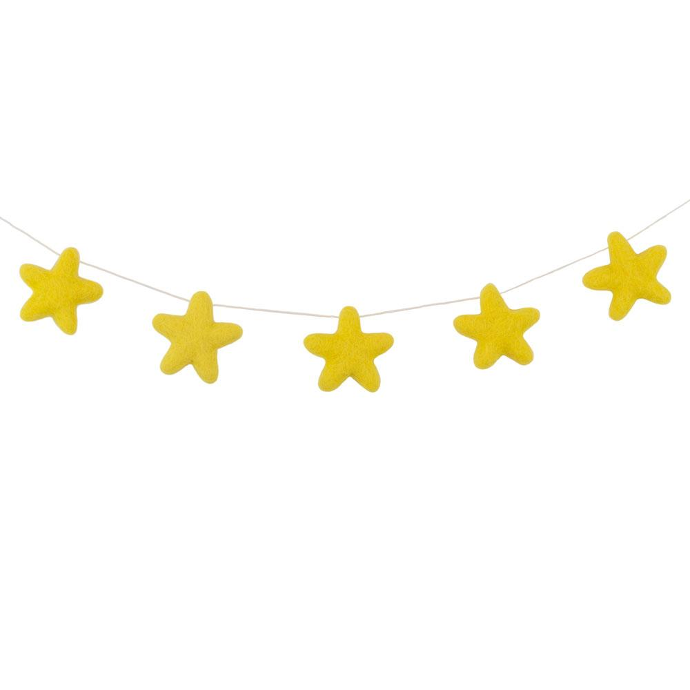 Felt Star Garland | Yellow - The Party Room