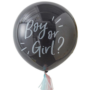 Boy or Girl Gender Reveal Balloon (90cm) - The Party Room