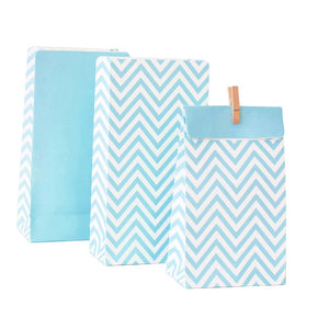 Chevron Blue Treat Bags - The Party Room