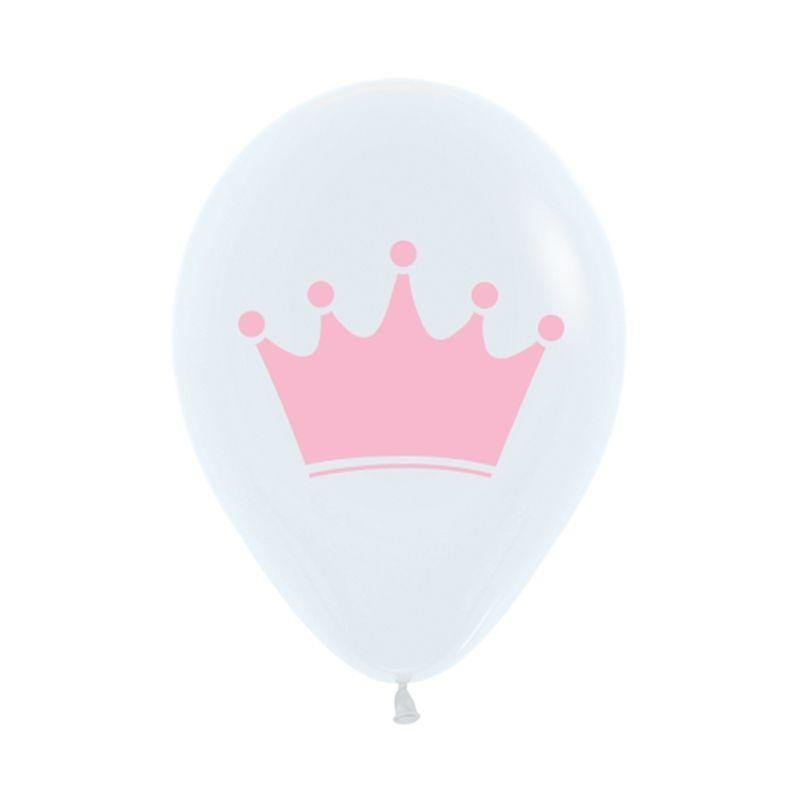 Pink Crown Balloons - The Party Room