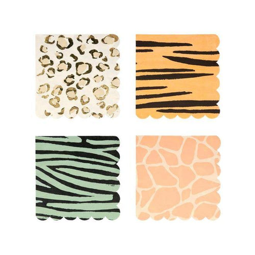 Safari Animal Napkins - The Party Room
