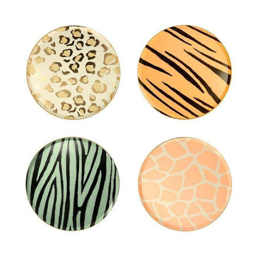 Safari Animal Side Plates - The Party Room