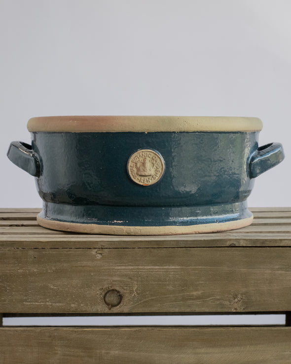 KEW LOW BOWLS WITH HANDLE NAVY BLUE S/2 - 5635NB