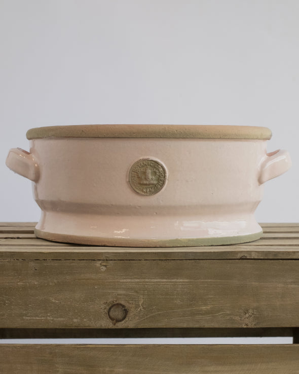 KEW LOW BOWLS W/HANDLE PASTEL PINK - 5635PPK