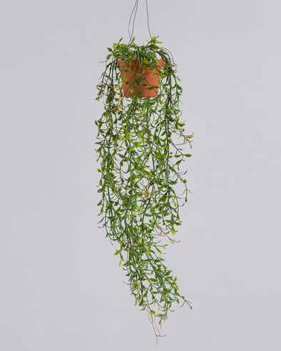 HANGING POT MINI FEATHER LEAF 47CM
