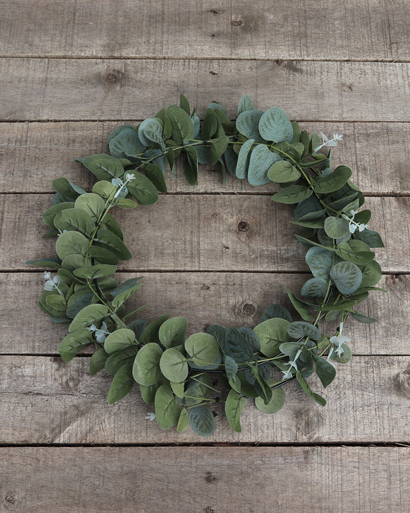 EUCALYPTUS WIRE WREATH 35CM - 6035