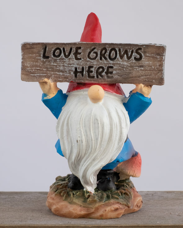 LOVE GROWS HERE GNOME 7.7CM - 6112 (Box of 6)