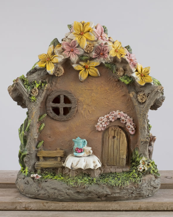 FAIRY CAFE HOUSE WITH LED 16.7CM - 6153 (Box of 3)