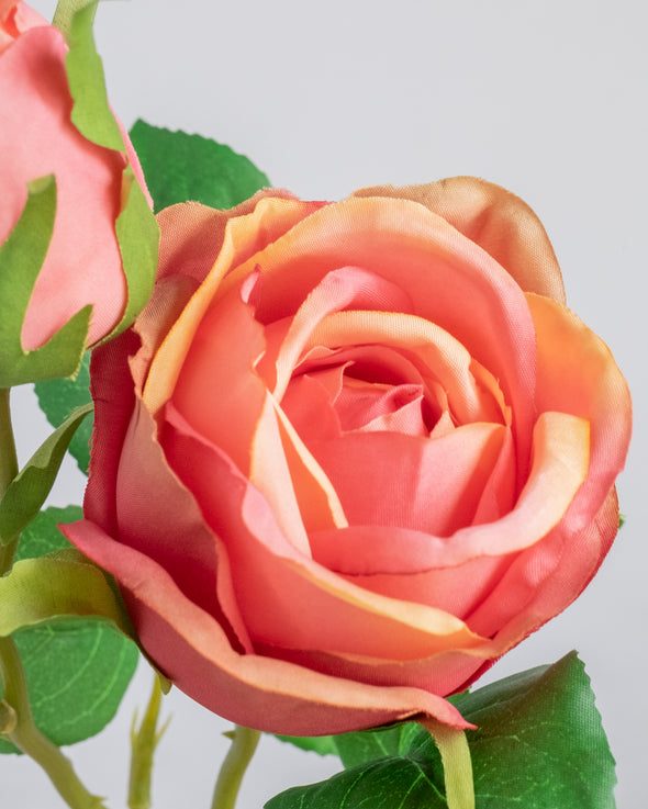 ROSE SPRAY RED/PEACH 47.5CM - 6751RDPE