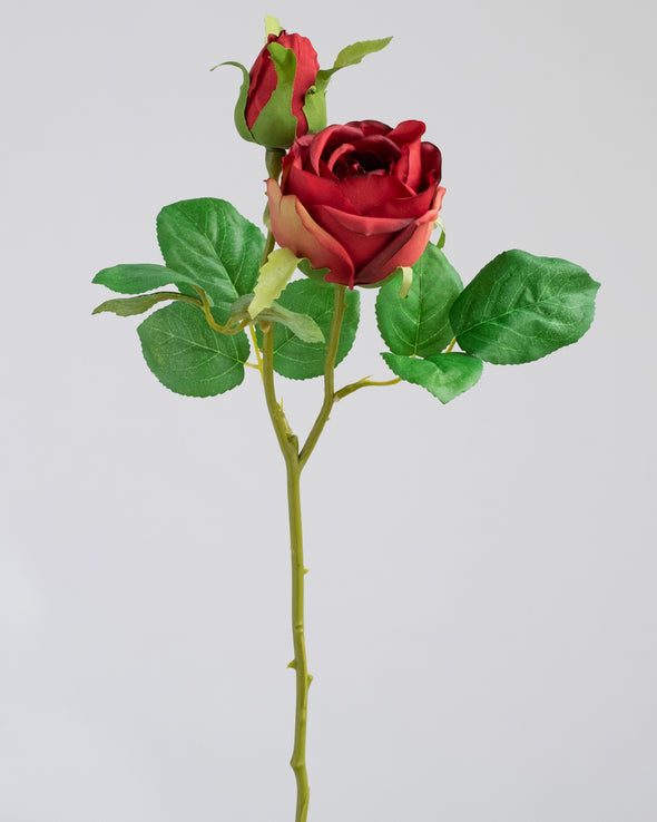 ROSE SPRAY RED 47.5CM - 6751RD