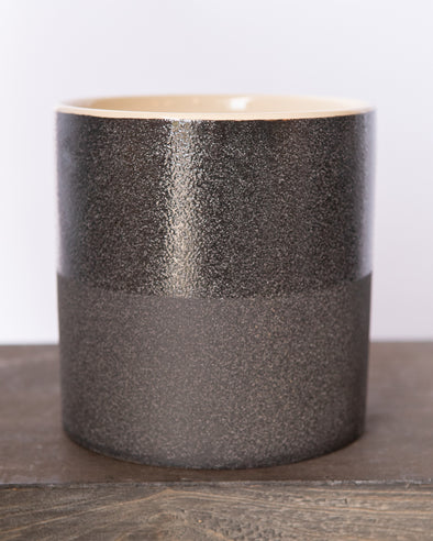 SANDGLAZED STONE POT BLACK - 6839BK