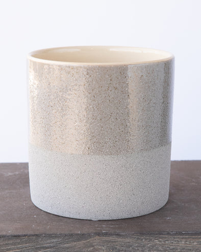 SANDGLAZED STONE POT GREY - 6839GY