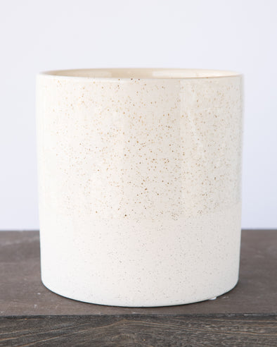 SANDGLAZED STONE POT WHITE - 6839WH