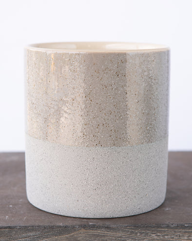 SANDGLAZED STONE POT GREY - 6840GY