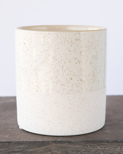 SANDGLAZED STONE POT WHITE - 6840WH