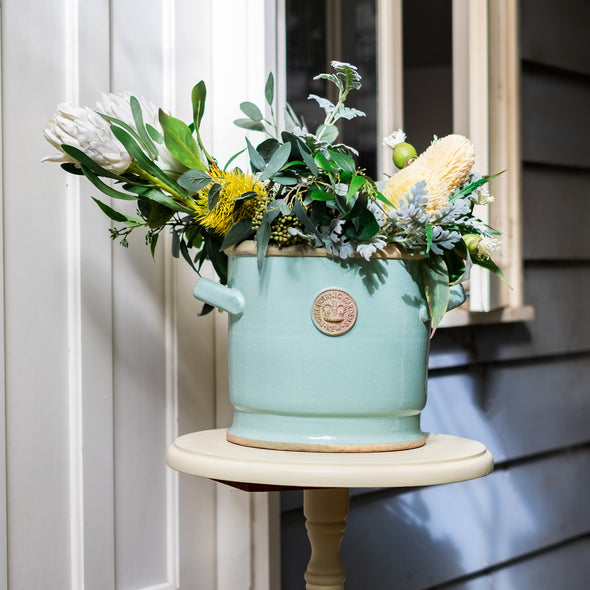 KEW BOWLS WITH HANDLE S/2 TIFFANY BLUE - 5634TBL
