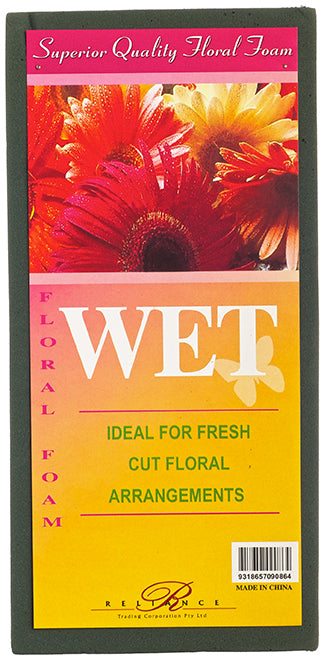 FLORAL FOAM BRICK WET 23 x 11 x 8CM - FOAM2 (Box of 6)