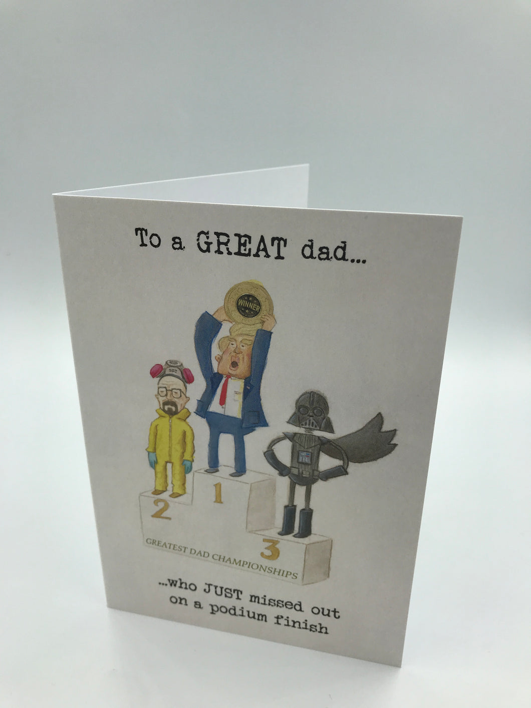 To a GREAT dad!
