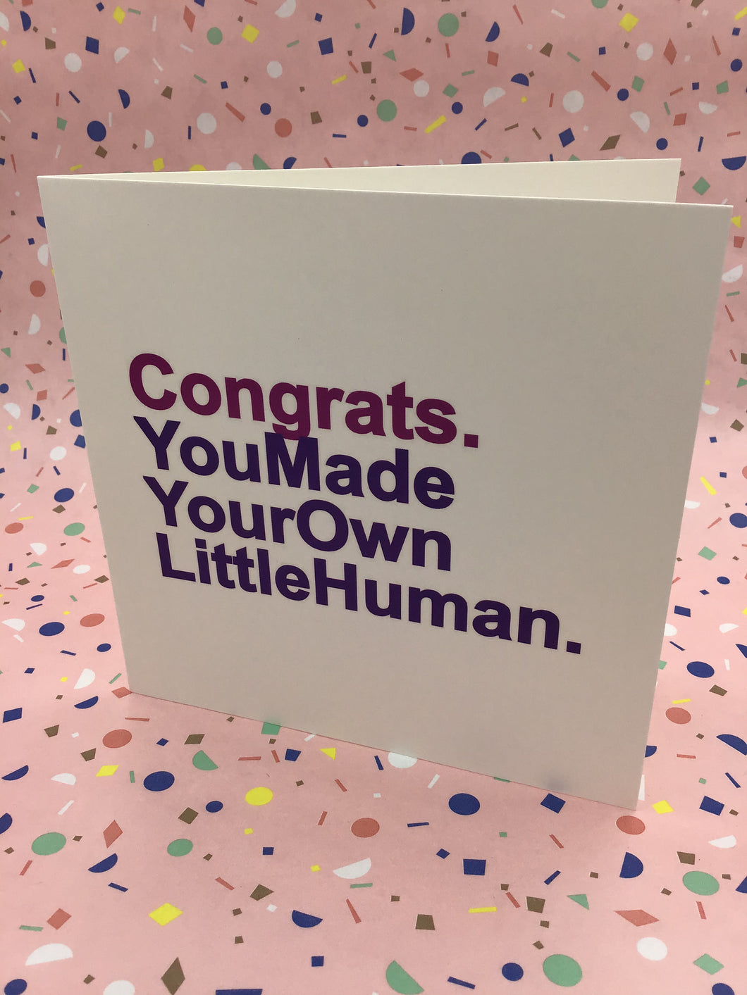 You made your own little human!