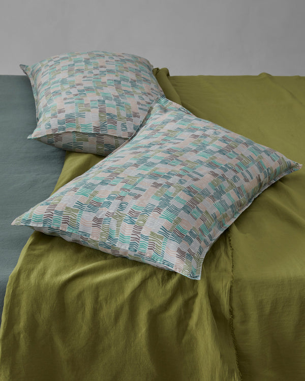 Society Limonta Nap Match Set Federe ramie' letto