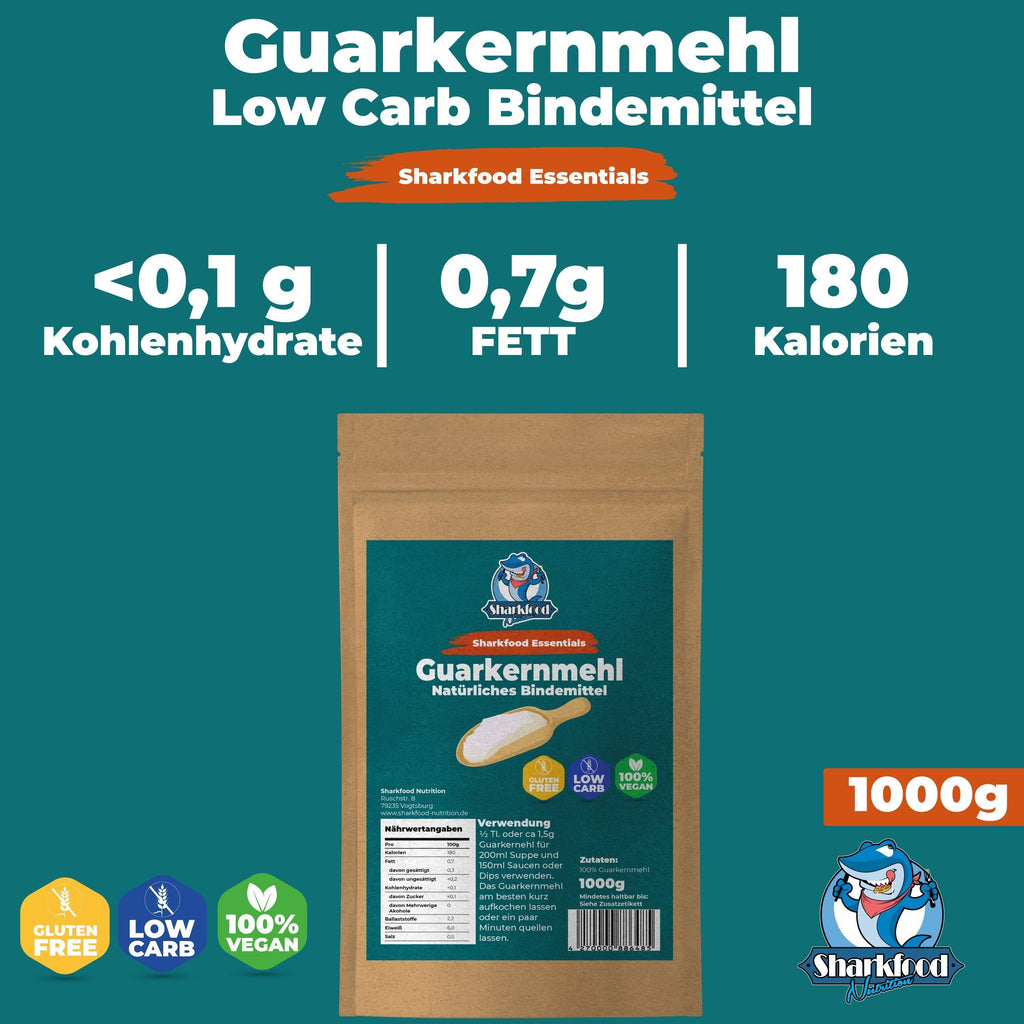 Guarkernmehl | Verdickungsmittel | Bindemittel | E412 | Low Carb & Keto | Sharkfood Nutrition